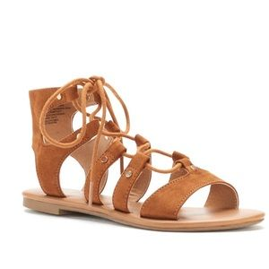 SO Lace Up Flat Sandals #8 1/2
